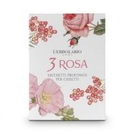 3 Rosa - 3 Rose Perfumed Sachet for Drawers - sacchetti vendibili singolarmente o nella confezione da 4 pezzi